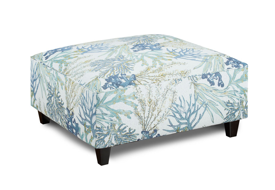 Fusion Coral Reef Oceanside Square Cocktail Ottoman