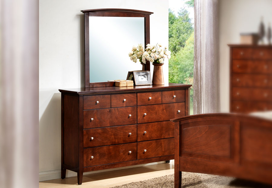 Lifestyles Jack Eight Drawer Dresser in Rich Whiskey Finish
