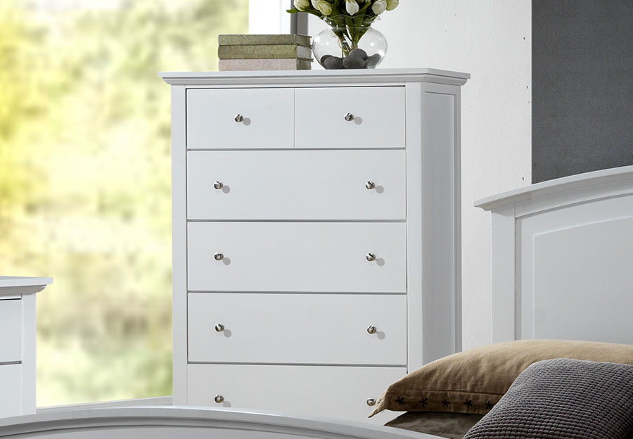 Lifestyle Jill White Five-Drawer Chest