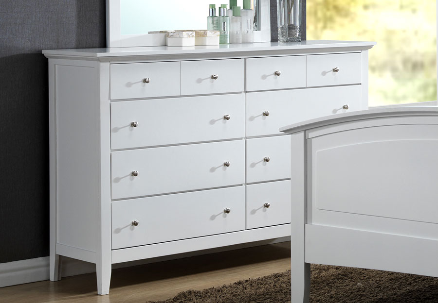 Lifestyle Jill White Eight-Drawer Dresser
