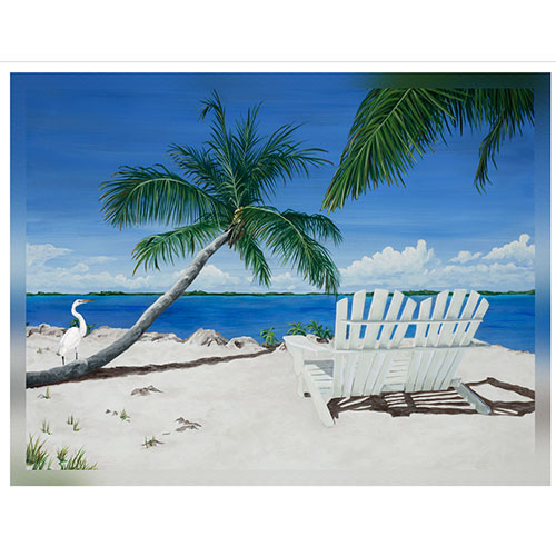 Sandy Beach White Chairs 36 x 48