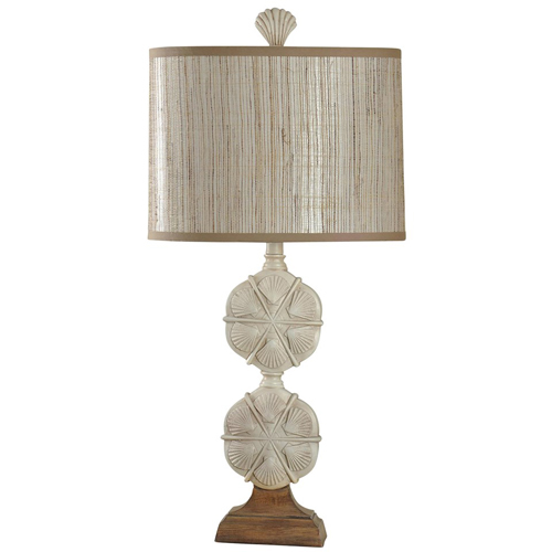 StyleCraft Double Stacked Seashell Motif Table Lamp
