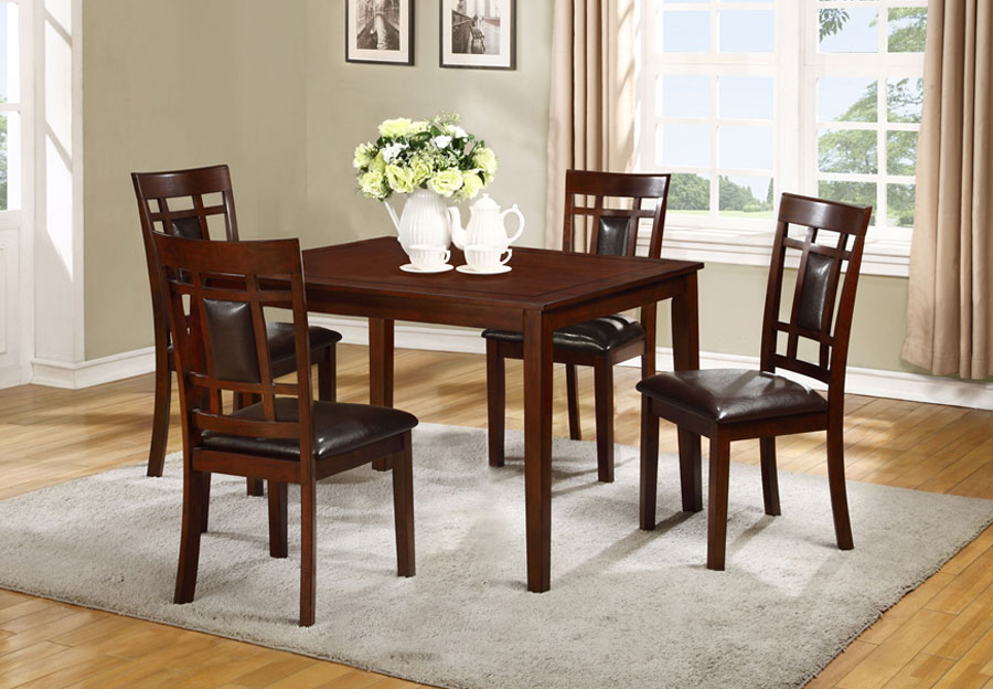 Lifestyle Westlake Espresso Dining Table and Four Side Chairs