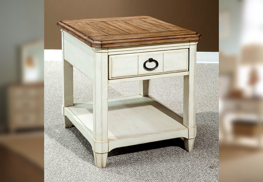 Palmetto Home Millbrook End Table with Drawer