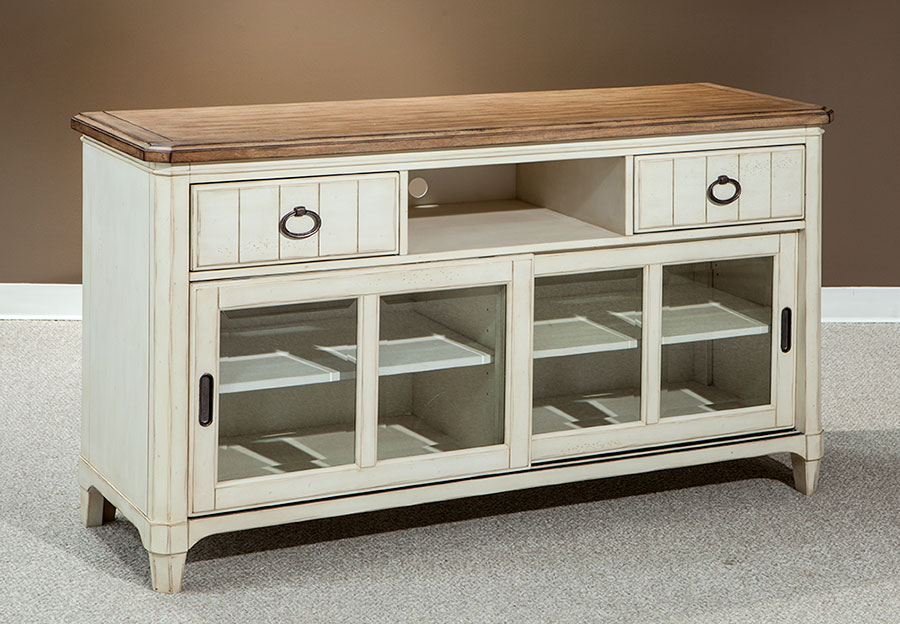 Palmetto Home Millbrook Plasma Console with Sliding Glass Doors