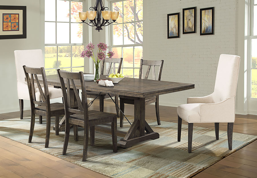 Elements Finn Dining Table and Four Side Chairs