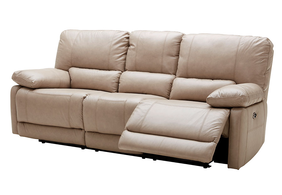 Kuka Maui Sand Reclining Sofa Leather Match