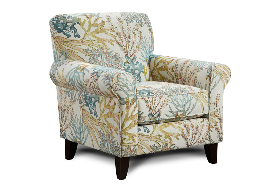 Fusion Coral Reef Caribbean Accent Chair