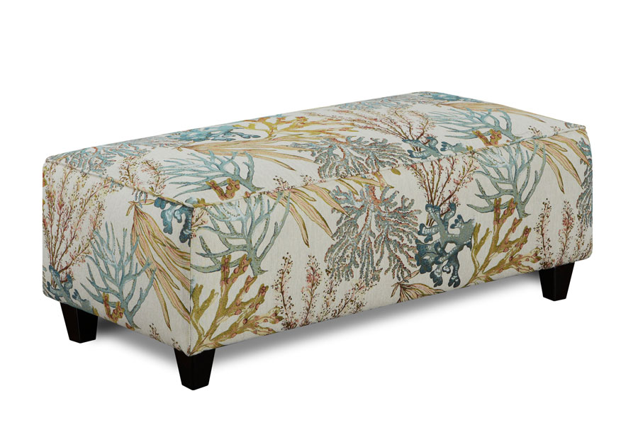 Fusion Coral Reef Caribbean Rectangle Ottoman