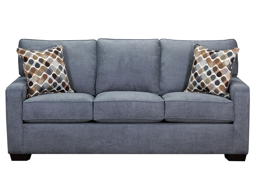 Lane Mia Denim Sofa with Desert Accent Pillows