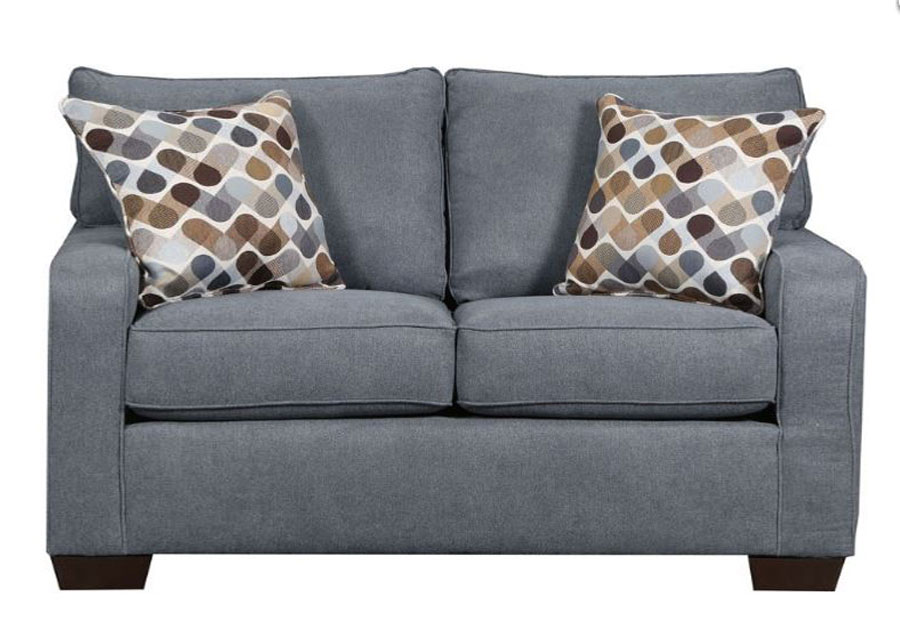 Lane Mia Denim Full Sleeper Sofa with Desert Accent Pillows