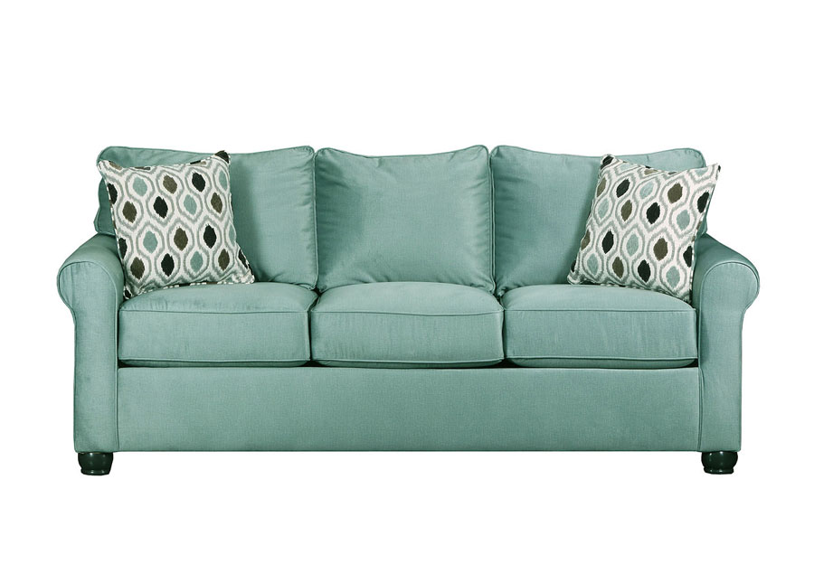 Lane Jojo Spa Queen Sleeper Sofa with Preston Mocha Accent Pillows
