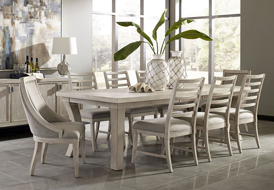Panama Jack Graphite Dining Table and Four Side Chairs