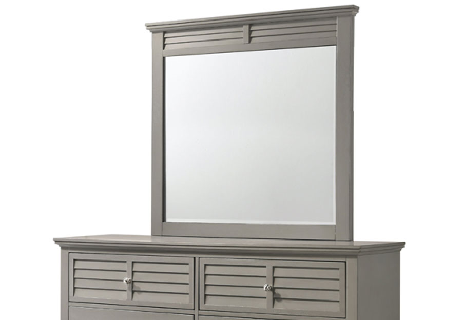 Lifestyles Shutter Grey Bevel Mirror