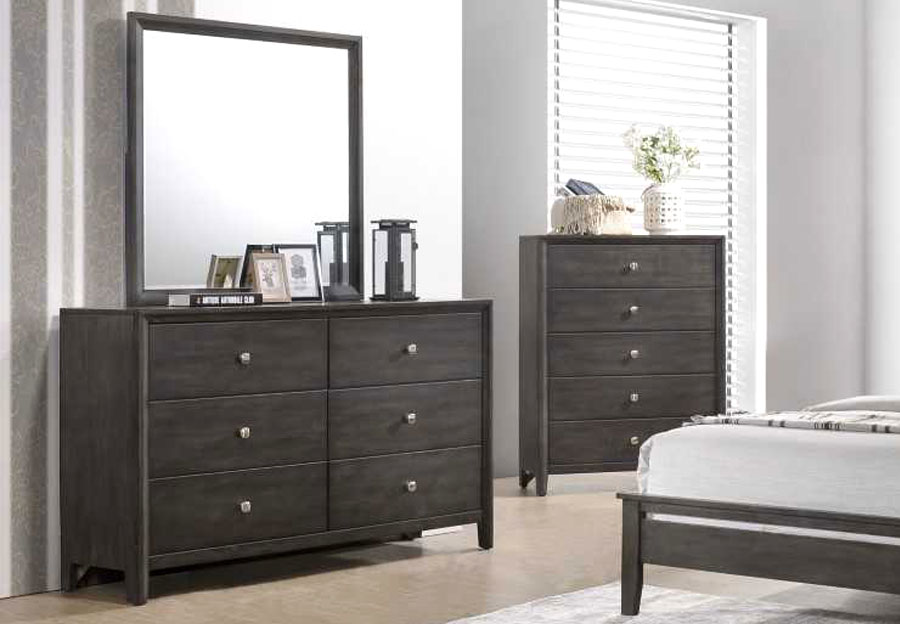 Lane Grant Grey Six Drawer Dresser