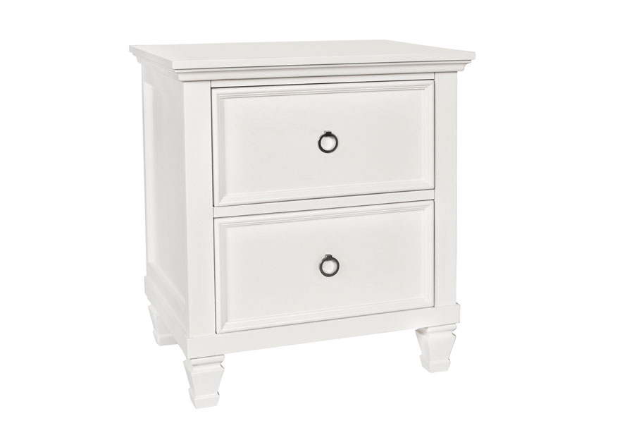 New Classic Tamarack White Two Drawer Nightstand