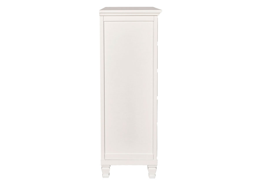New Classic Tamarack White Five Drawer Chest