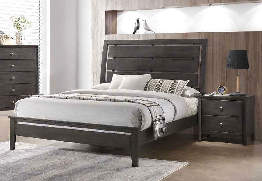 Lane Grant Grey Queen Headboard, Footboard and Rails