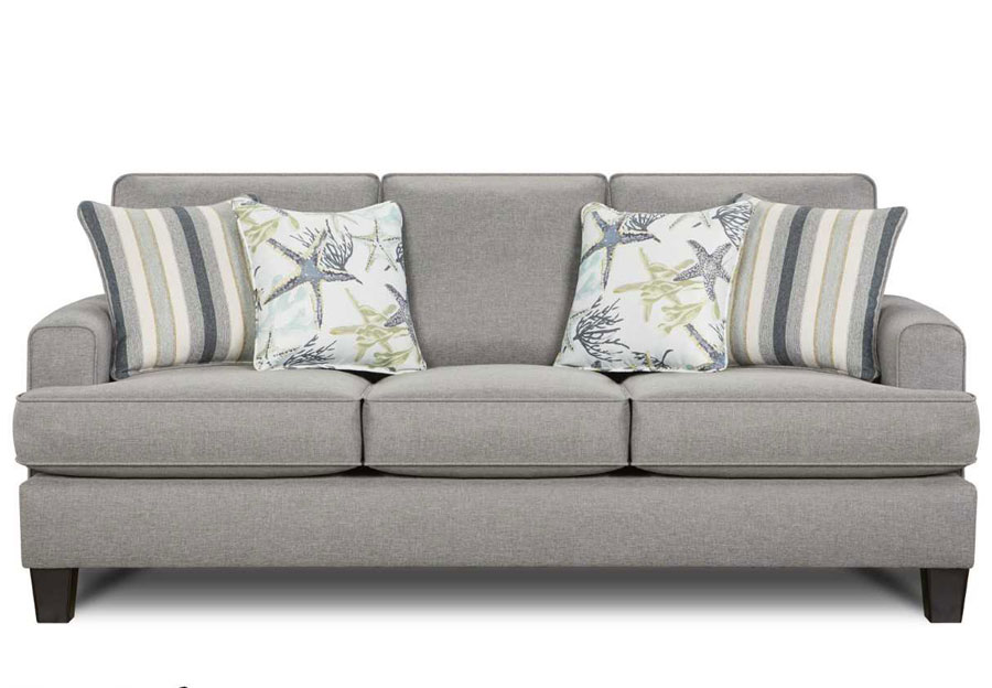 Fusion Jitterbug Flax Queen Sleeper With Savanah Ocean And Reinvented Nautica Accent Pillows