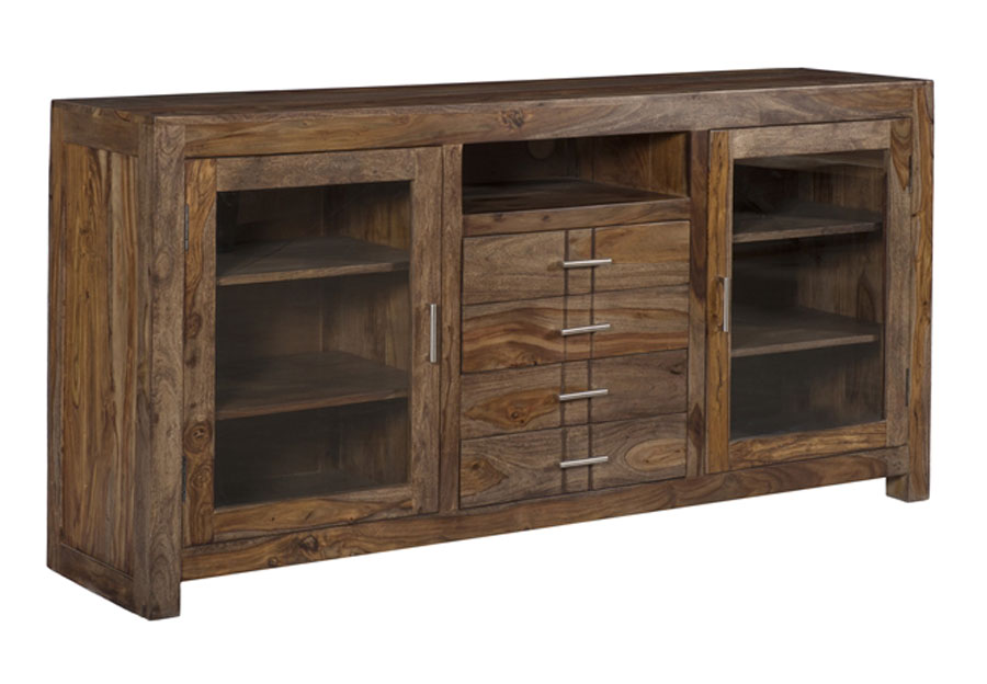 Coast to Coast Brownstone Two Door Four Drawer Media Console