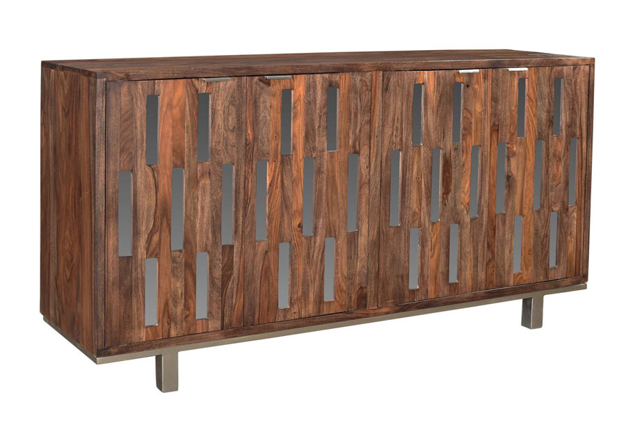 Coast to Coast Brownstone Four Door Credenza