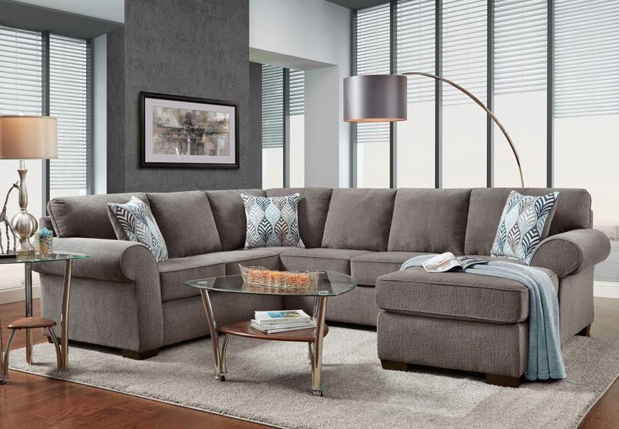 Affordable Furniture Charisma Smoke, Sectional Living Room Furniture Sets