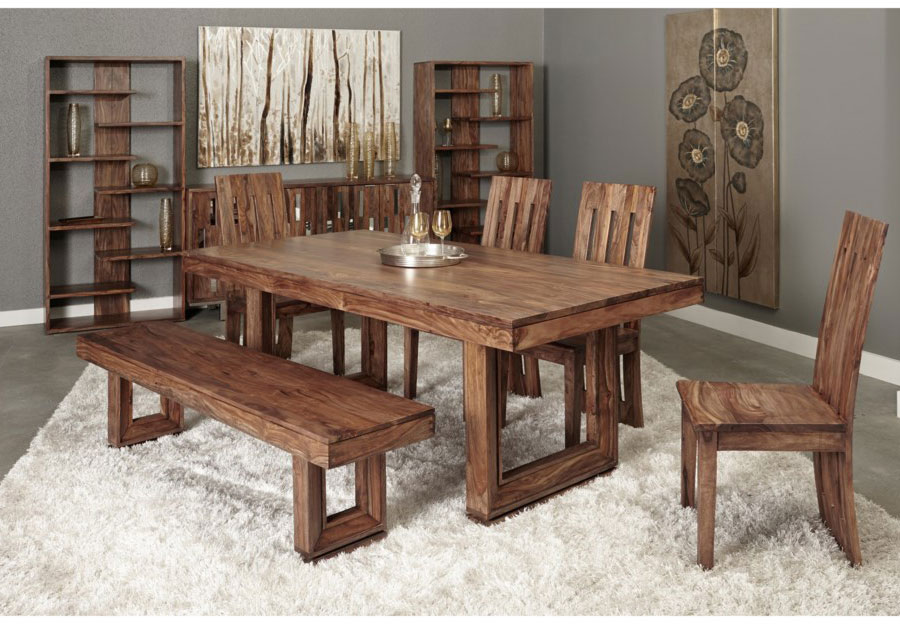 Coast to Coast Brownstone Dining Table And Four Side Chairs