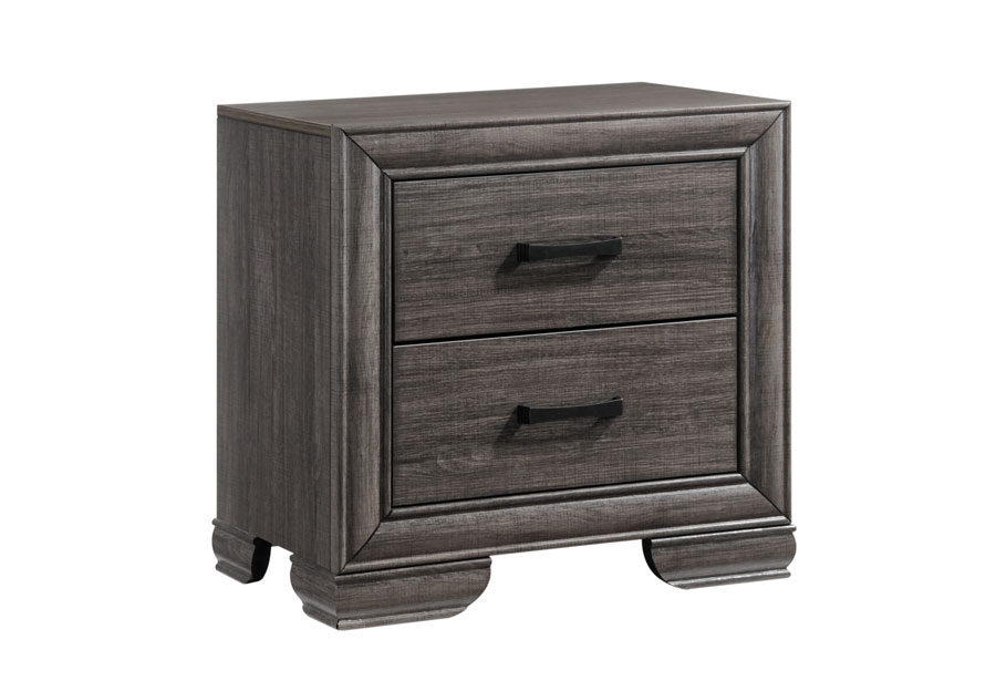 Lifestyle Shelton Grey Two-Drawer Nightstand