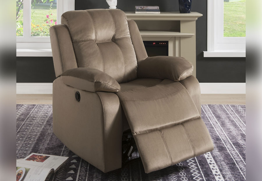 Lifestyles Cosmo Taupe Power Recliner