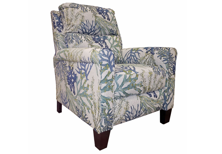 Southern Motion Pep Coral Reef Oceanside High-Leg Recliner