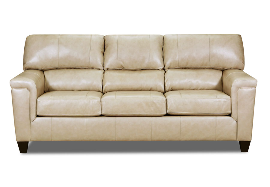 Lane Cypress Cream Leather Match Sofa