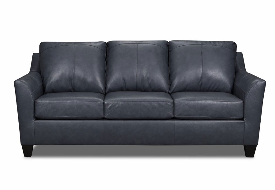 Lane Avery Shale Leather Match Sofa