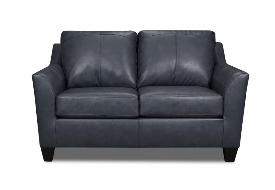 Lane Avery Shale Leather Match Loveseat