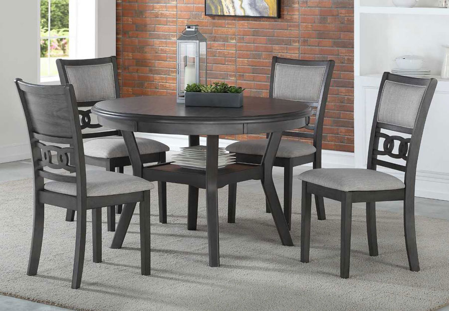 New Classic Gia Grey Round Table with Four Chairs