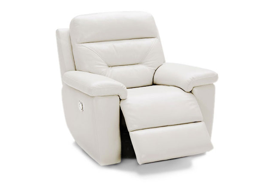 Kuka Grand Point Ivory Manual Leather Match Recliner