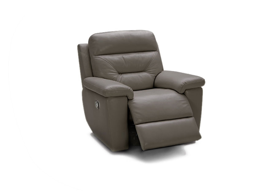 Kuka Grand Point Charcoal Dual Power Recliner Leather Match