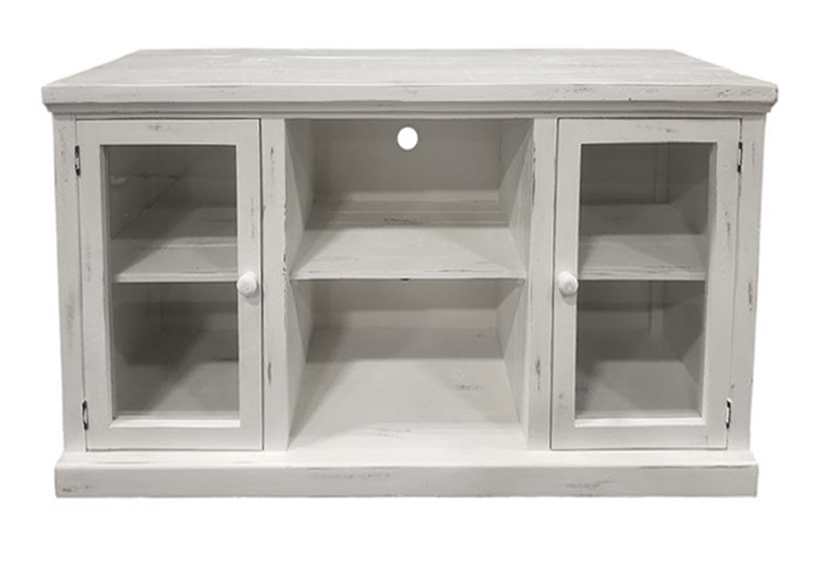 "Vintage Furniture Garrison Nero White 54"" Media Console"