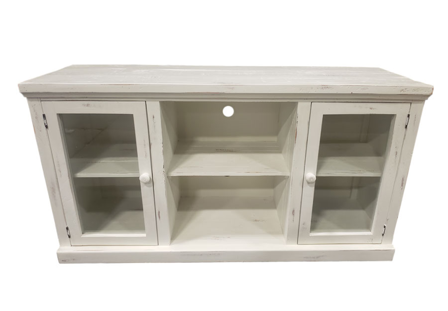 "Vintage Furniture Garrison Nero White 74"" Media Console"