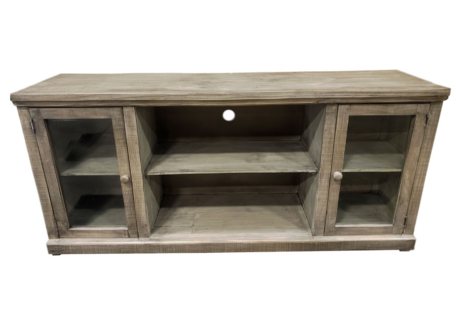 Vintage Furniture 74in Garrison Media Console In Granite