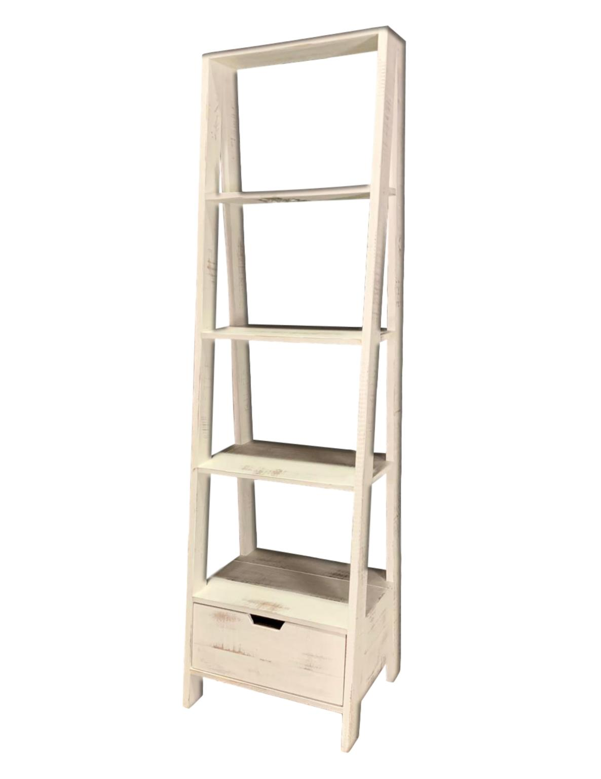 Vintage Furniture Nero White Ladder Bookcase