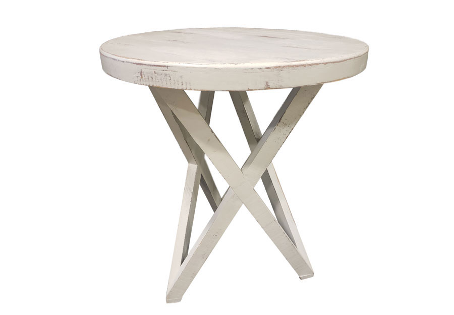 Vintage Furniture Galaxy End Table In Nero White