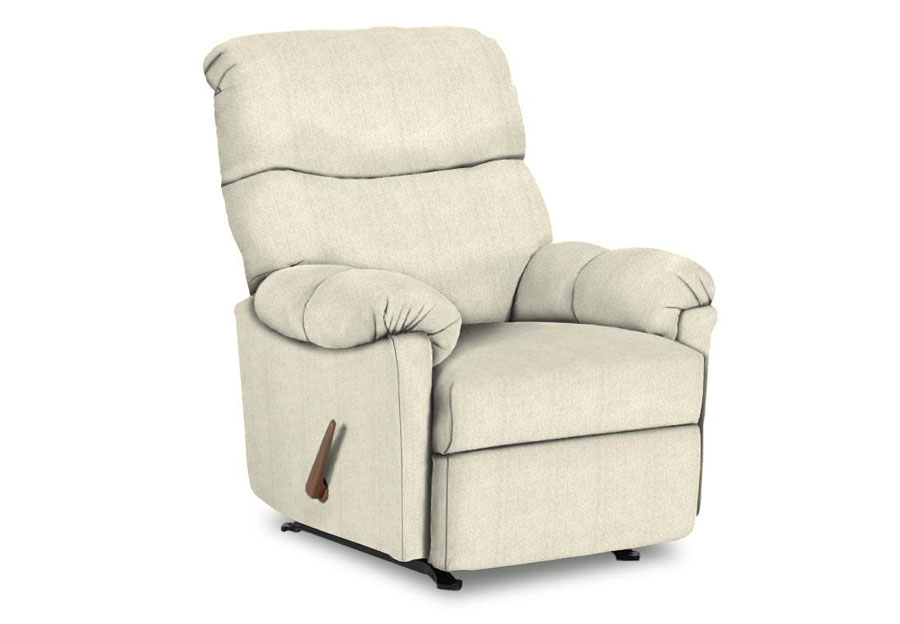 Best Balmore Ivory Swivel Rocker Recliner