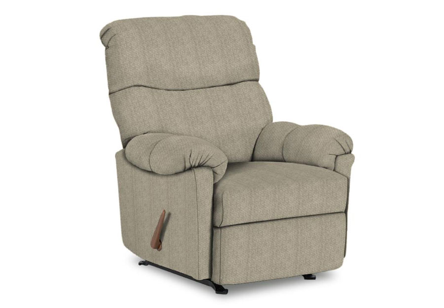 Best Balmore Silver Swivel Rocker Recliner