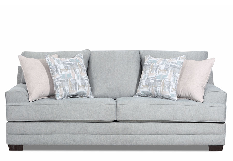 Lane Annabelle Spa Queen Sleeper Sofa with Niko Platinum and Fingerpaint Spa Accent Pillows