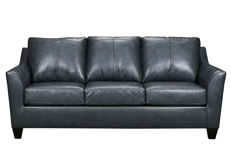 Lane Avery Fog Leather Match Queen Sleeper Sofa