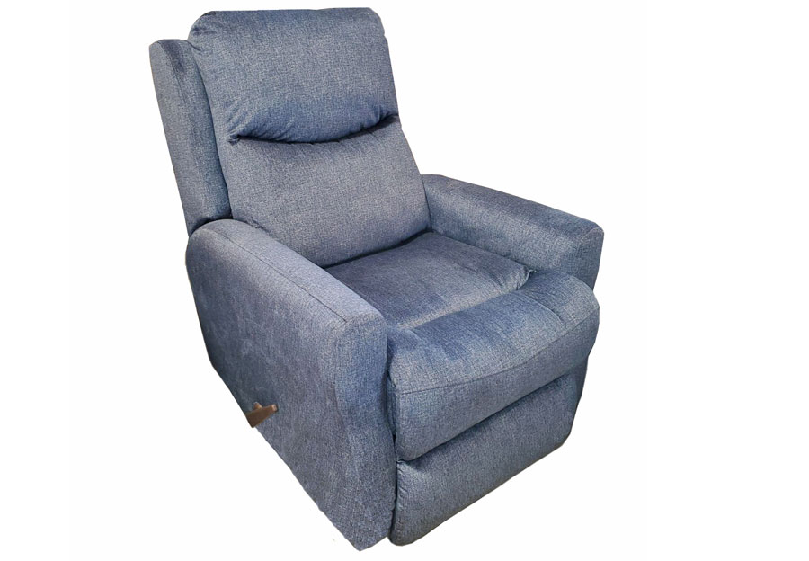 Southern Motion Fame Rocker Recliner in Cyber Colbalt Fabric