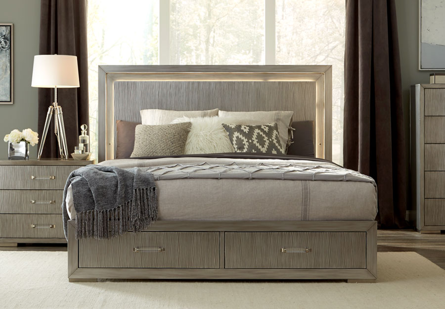 Lifestyle Meridian King Headboard, Storage Footboard and Rails