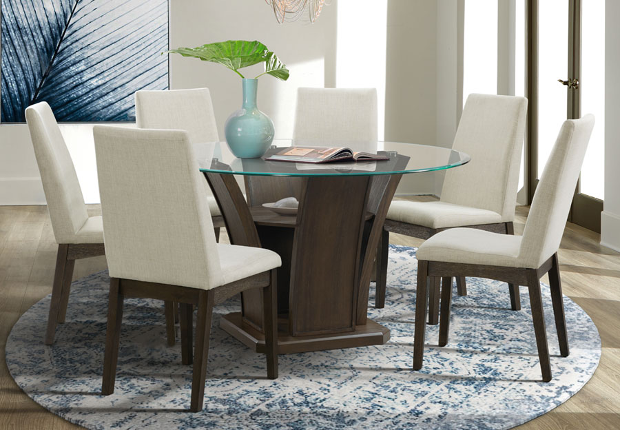 Elements Dapper Round Dining Table with Four Chairs