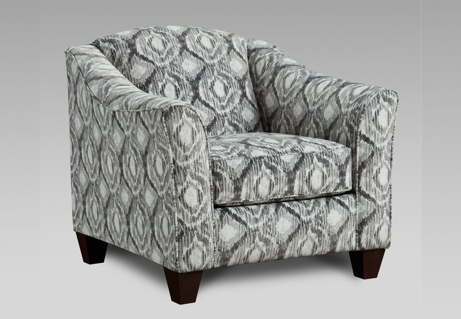 Affordable Furniture Stonewash Charcoal Accent Chair
