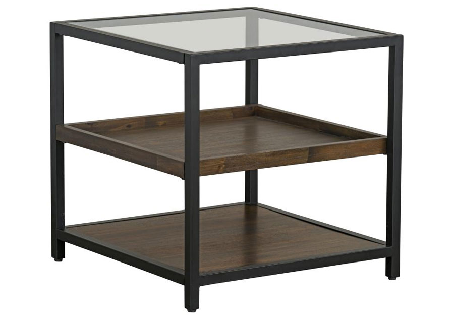 Standard Copleand End Table with Glass